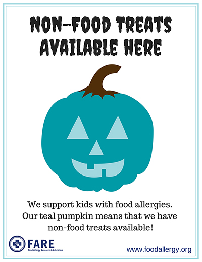 When you see this poster, you'll know there are safe treats!