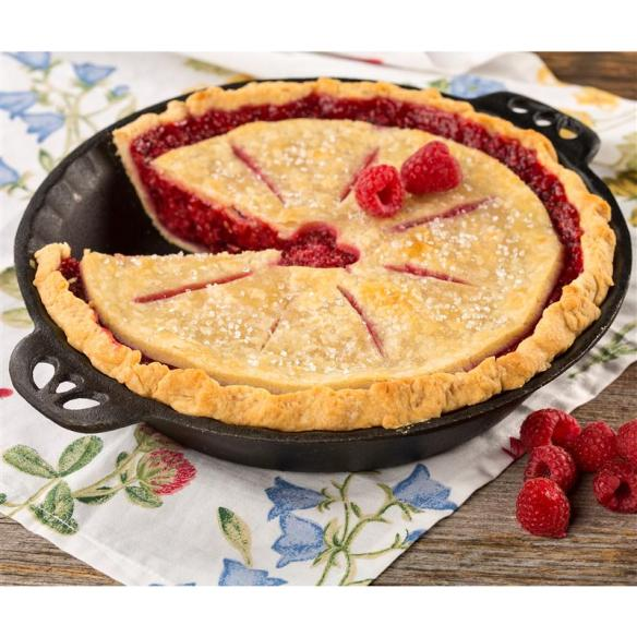 Durable and pre-seasoned, this cast iron pie pan will last a lifetime - and beyond.