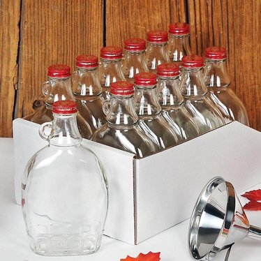 glass syrup bottles