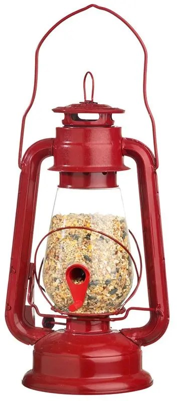 Your bird friends will love our red lantern bird feeder - and it looks great in your yard!