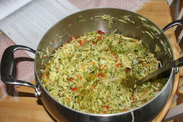zucchini relish in pot kathy h.