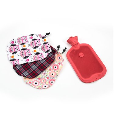 hot water bottle with cozy