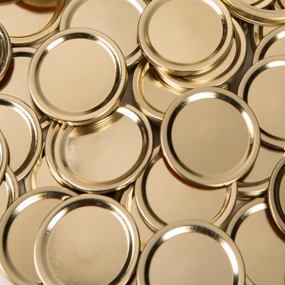Lehman's offers sleeves bulk canning lids for both wide mouth and regular mouth jars. These high-quality tin lids are packaged in brown paper sleeves and contain a sealant material which is FDA approved and BPA free. At Lehmans.com.
