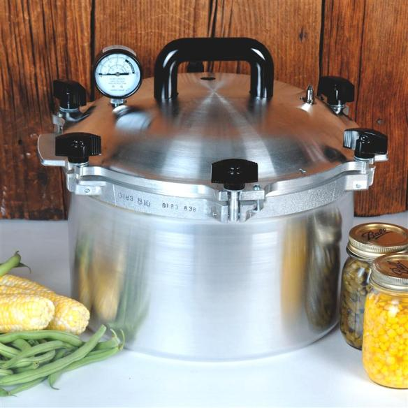 Pressure canning is the only method recommended safe by the U.S.D.A. for low-acid foods such as vegetables, meats and fish.
