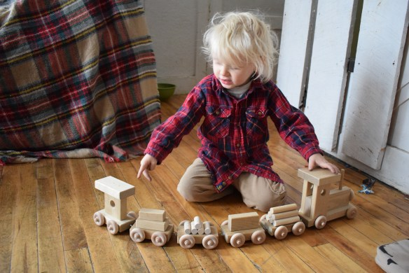 eli and mattie toy wooden train