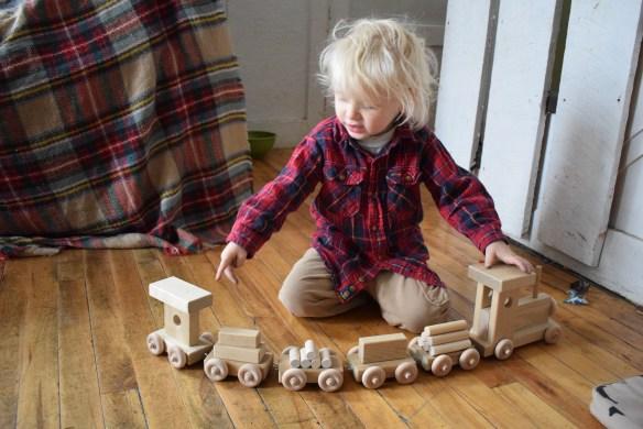 eli and mattie toy wooden train