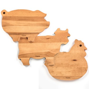 animal shaped maple cutting boards