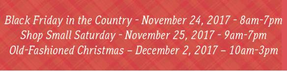 holiday event dates 2017