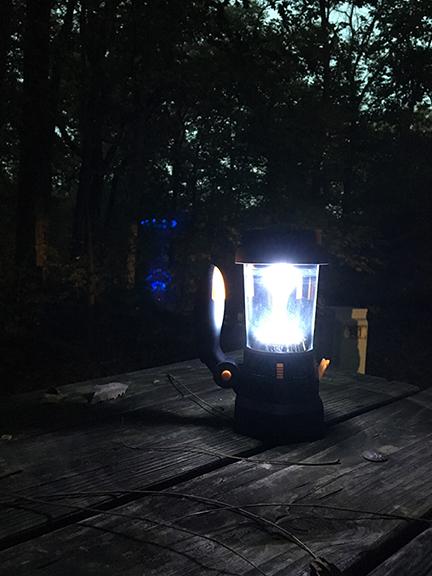 hand-cranked lantern
