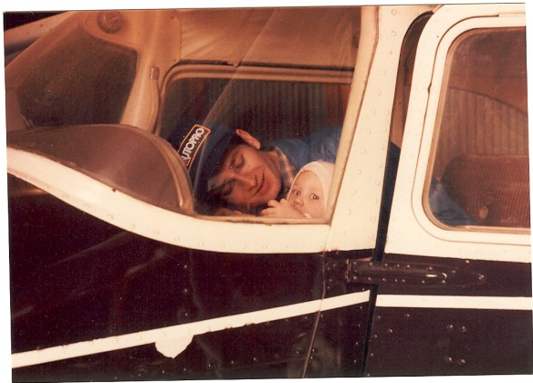 dad and me in a plane