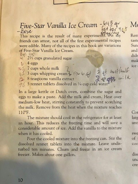 Lehman Family Ice Cream Recipe