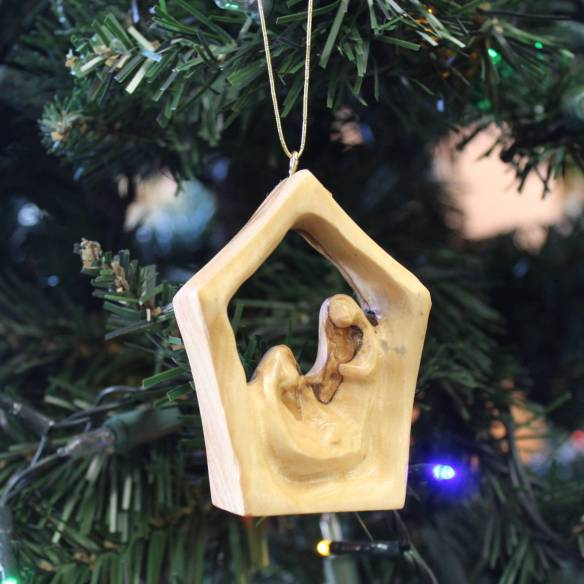 olive wood house ornament