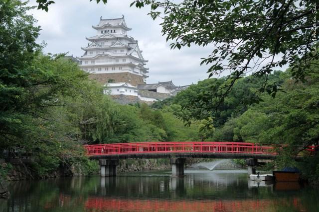 Vue sur le château d'Himeji