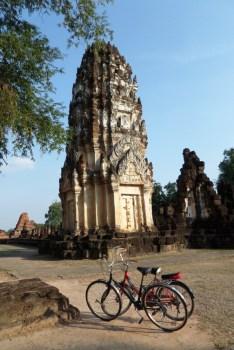Nos vélos, indispensables à Sukhothai.