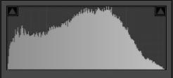 histogram zdjęcia o wysokiej tonalności
