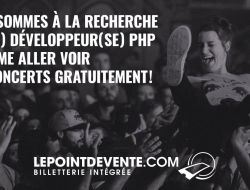 Offre d'emploi: Développeur(se) PHP