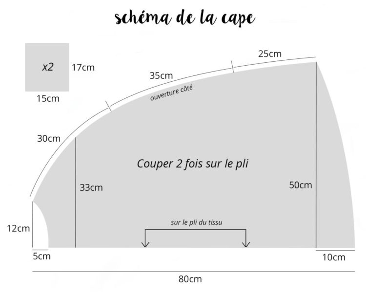 diy cape caban tutoriel schéma