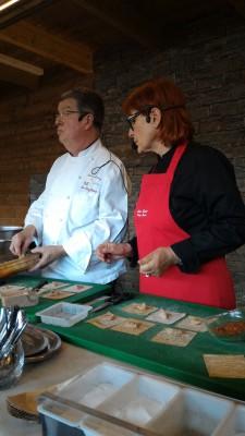 Démonstration culinaire hôtel Les Trésoms