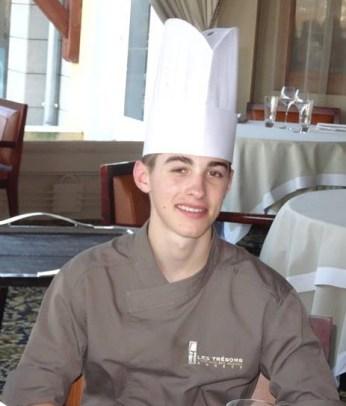 Michael Rauch, apprenti cuisinier aux restaurants des Trésoms à Annecy