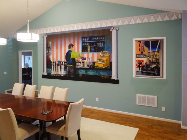 Good Profitable Business Custom Inkjet Wall Murals