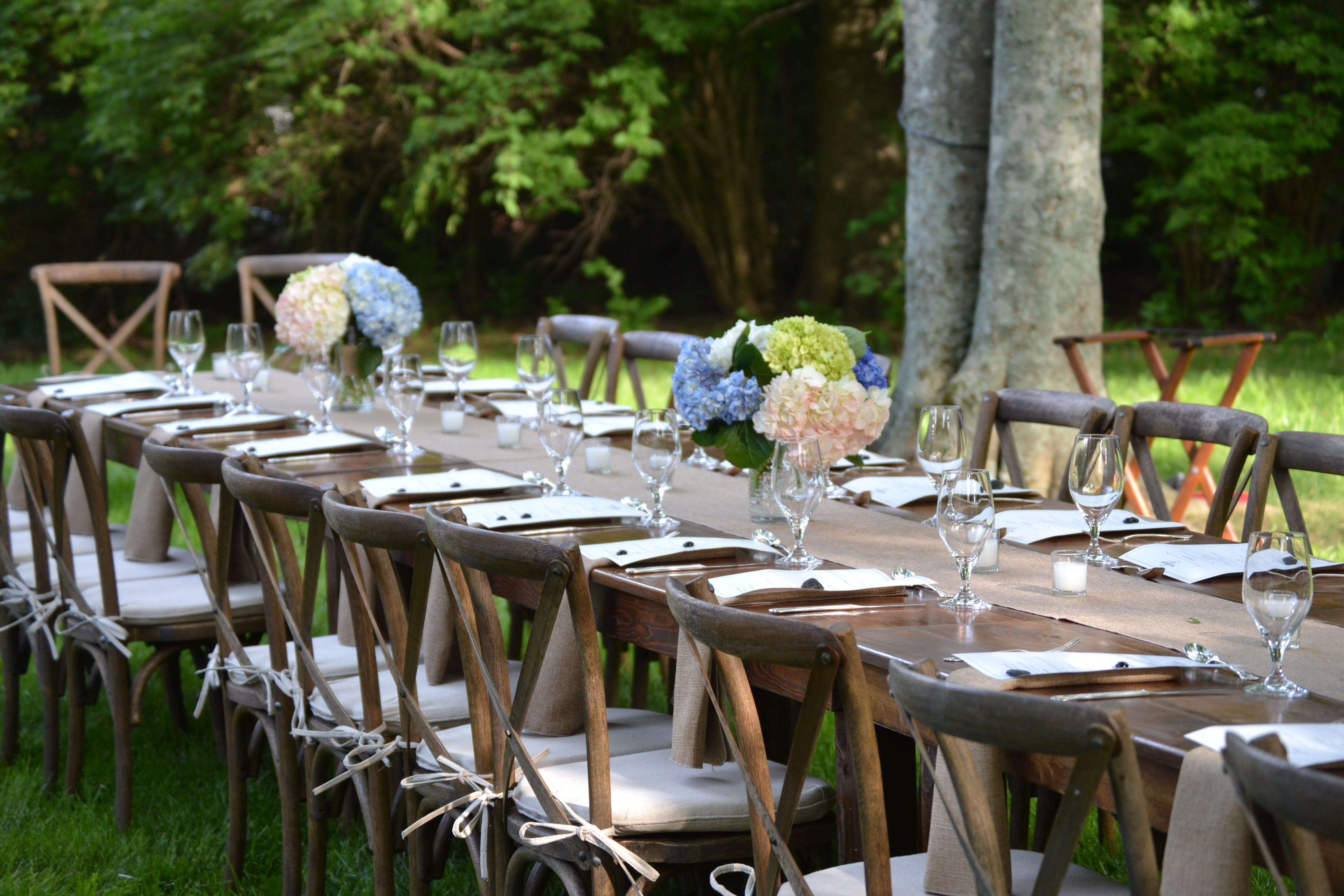 rustic outdoor event  Delightful Details