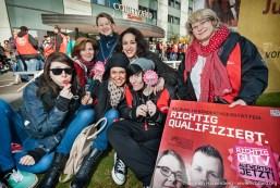Streikveranstaltung ver.di Erzieherinnen in Düsseldorf. Foto Dietrich Hackenberg