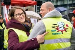 Zentrale Streikveranstaltung verdi Handel NRW in Dortmund am 17.04.2019. Foto Dietrich Hackenberg