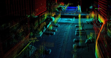 Point Cloud Created Using a Quanergy Lidar Sensor