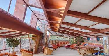 Photo of the Frank LLoyd Wright Inside Taliesin West