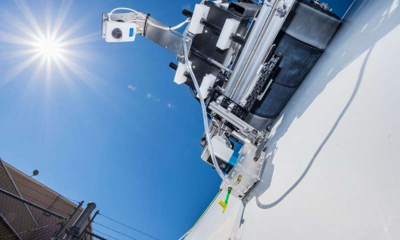 Image of Crawling Robots Detect Damage