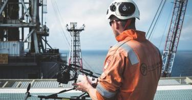Image of UAVs on Offshore Platform