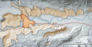 image of map Landslide Risk Funding for USGS