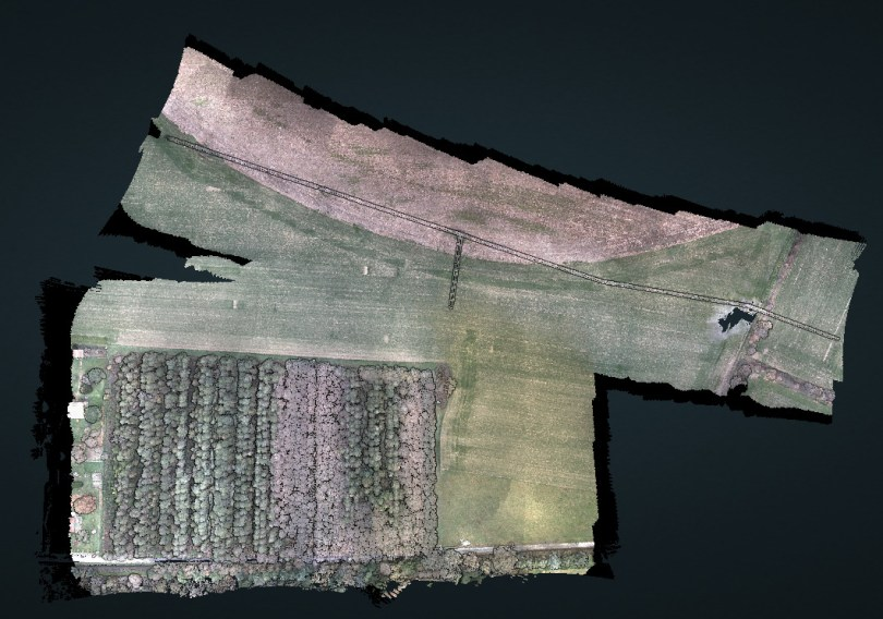 point cloud of Drone Lidar Precision Verified