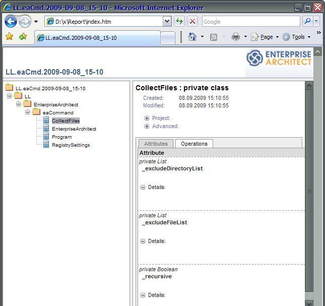 screenshot report