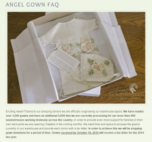 Angel Gown Website