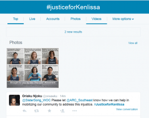 Kenlissia Jones abortion supporters