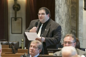 Representative Andre Jacque speaking on the floor