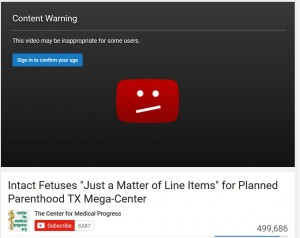Center for Medical Progress YouTube content warning