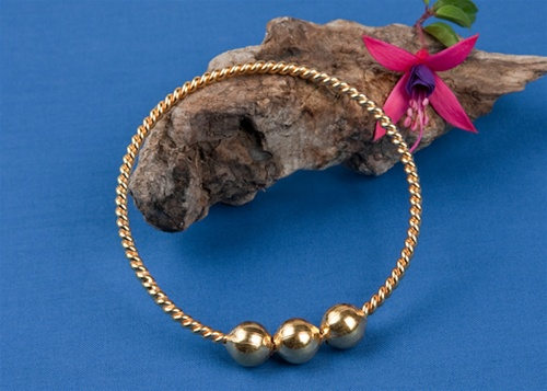 Sacred Cubit Light-Life Ring - 1/2 Cubit, Copper with 24K gold plating