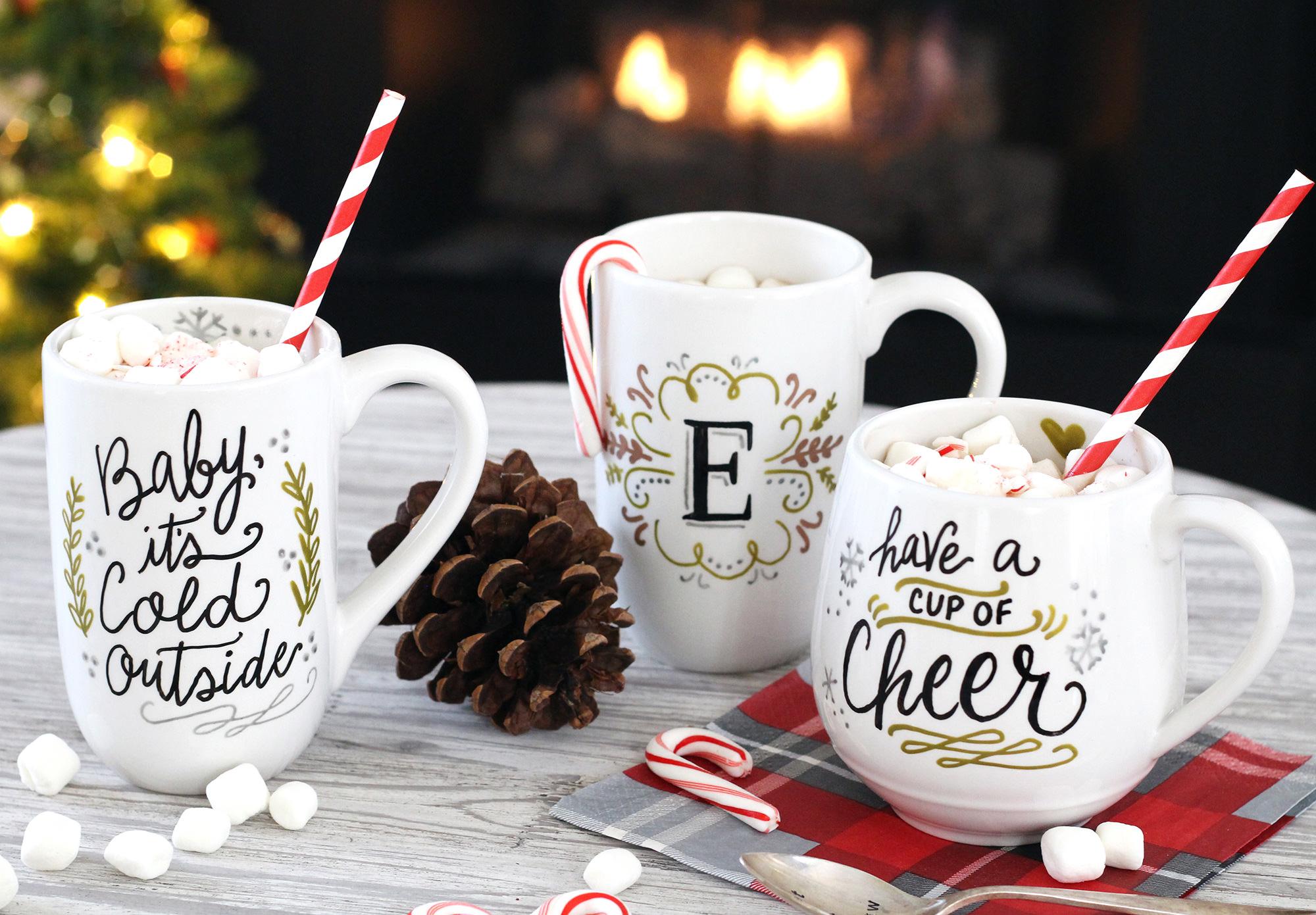 DIY Mug Gifts Using PaintedByMe Bake At Home Ceramics Lily & Val
