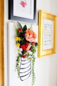 DIY 3-D Flower Canvas Art  Part 1