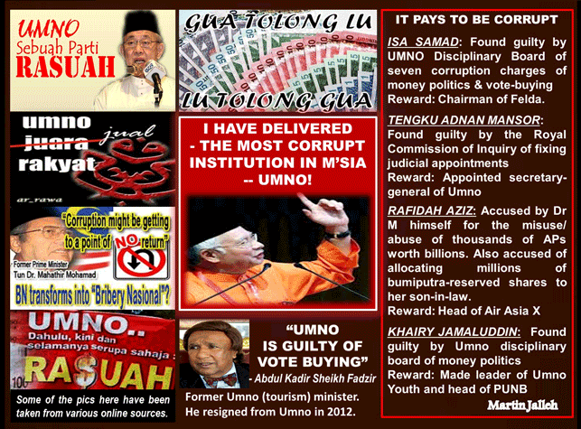Image result for Najib the corrupter snd the corrupt
