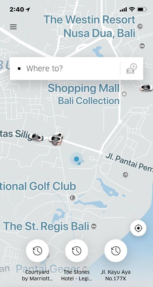 峇里島 uber 車輛