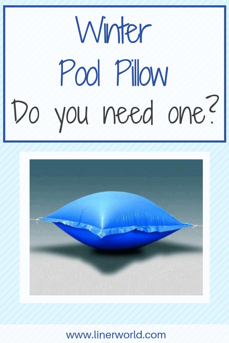 winter pool pillows