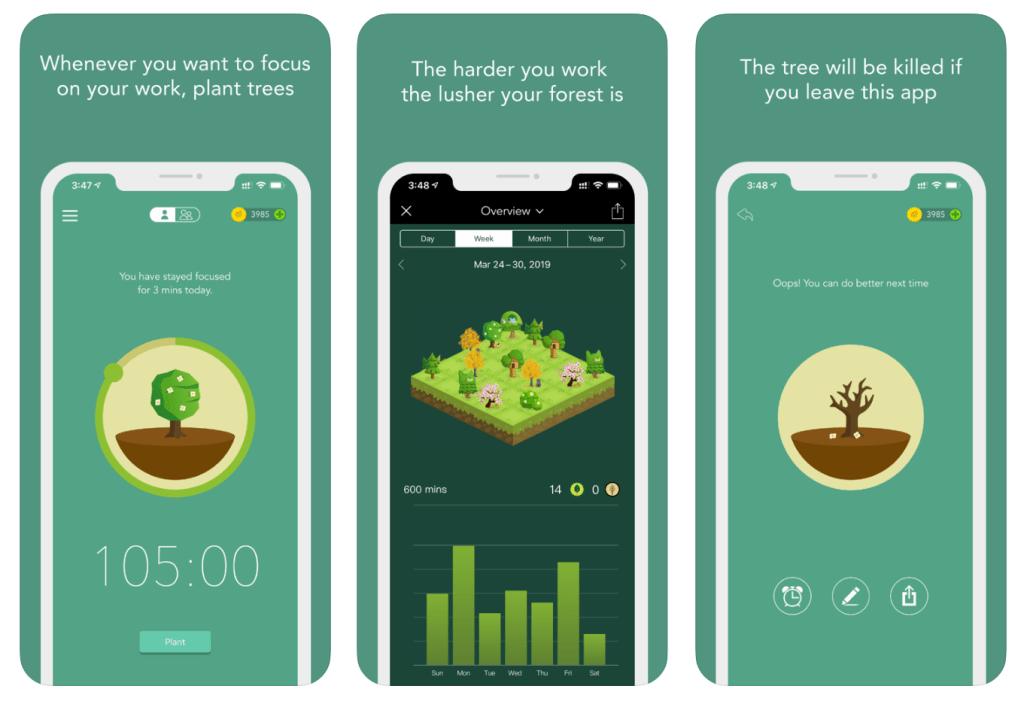 Forest, award-winning focus app