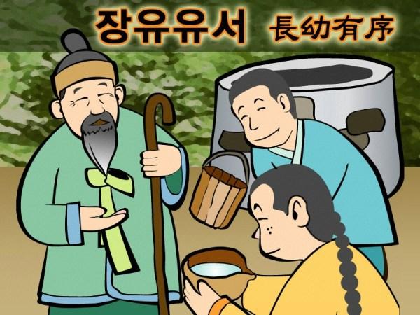 korean speech levels: Illustration of 장유유서