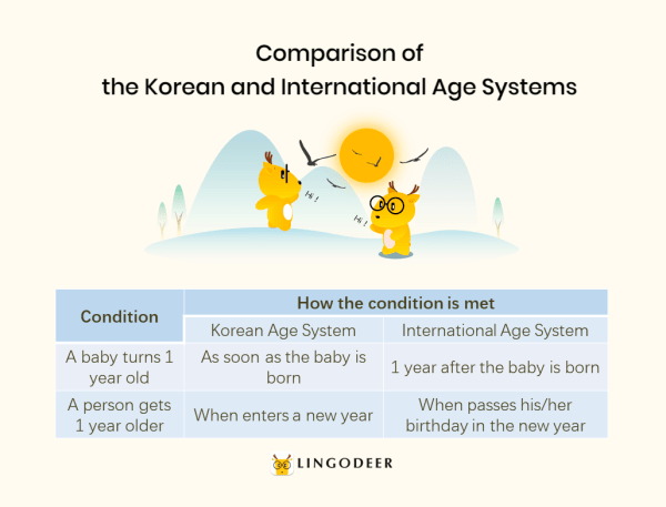 Korean age system: comparison of the Korean and international age systems