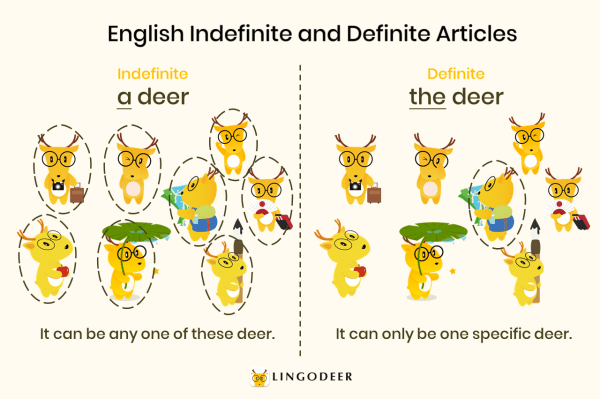 "Spanish definite and indefinite articles: English ""a' and ""the"""