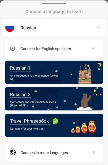 Russian Travel Phrasebook Screenshot