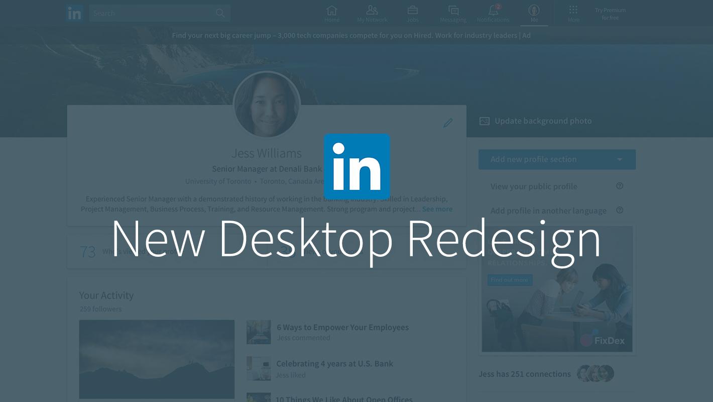 LinkedIn Desktop Redesign Puts Conversations and Content at the Center  Official LinkedIn Blog
